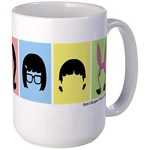CafePress - Bob's Burgers Silhouettes - Coffee Mug, Large 15 oz. White Coffee Cup by CafePress