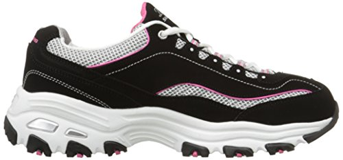 Skechers  DLitesCentennial, basket femme Noir - Black/White/Pink