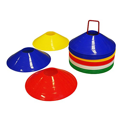Disc Cones 2inch with Cone Stand for Agility Training, Soccer, Football, Kids, Rugby, Boxing Field Marker Set