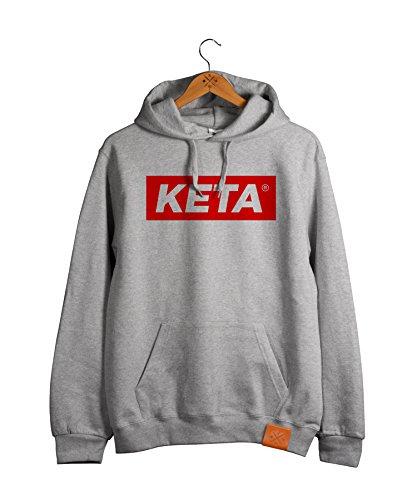 Manufaktur13 KETA - College Hoodie, Kapuzen Pullover in Rough Grey, Hood, Sweater Leder Veredelung (M13) (XL) -