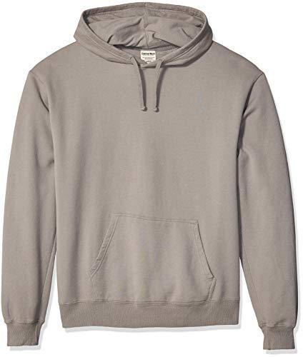 Hanes Herren Men's ComfortWash Garment Dyed Fleece Hoodie Sweatshirt Kapuzenpulli, Concrete Gray, Mittel -