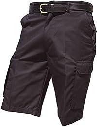 Harbour - Pantalones cortos ligeros Modelo Cargo Hombre Caballero - Trabajo/Verano/Calor