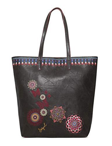 Desigual - Bag Chandy Rio Zipper Women, Shoppers y bolsos de hombro Mujer, Negro, 12x37x29 cm (B x H T)