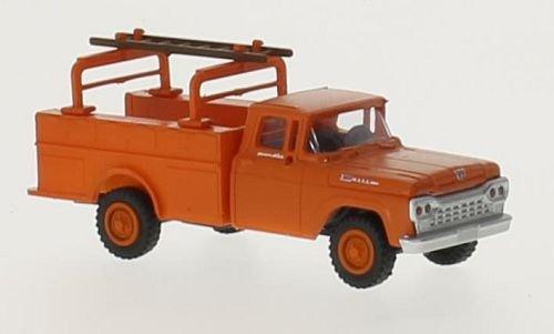 Ford F-350 Utility Truck, orange, 1960, Modellauto, Fertigmodell, Classic Metal Works 1:87