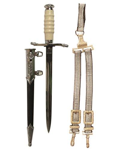 Mil-Tec NVA Offiziersdolch mit Scheide und Gehänge (Repro) Army Messer Dolch Verkauf ab 18 Jahren (Cosplay Für Anzüge Verkauf)