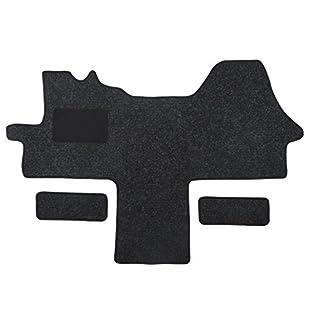 Fußmatte 1614 - Autoteppich von Alpha-Tex (1-tlg. + 2 Einstiege in Qualität Robust anthrazit, Umrandung grau)