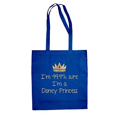 Baumwolltasche Jutebeutel -- I'm 99,9% sure I'm a Disney Princess Rot-Gold