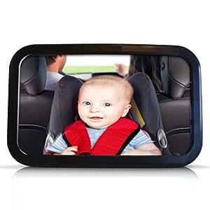 bestope r troviseur de surveillance r glable clip miroir de voiture avec ventouse pour b b. Black Bedroom Furniture Sets. Home Design Ideas