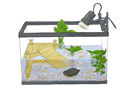 Unterwasser-brücke (Wear-Beauty Aquarium Fisch Tank Unterwasser Landschaftsbau Harz Schildkröte Schildkröte Reptilien Terrasse Brücke Dekorationen Ornamente Zubehör Schwimmende Schildkröte Island Basking Platform)