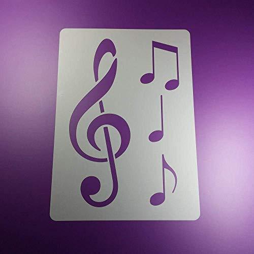Schablone Notenschlüssel Musik Note 3 Noten - BA87 (Handwerk Für Noten)