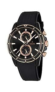 Festina - F16852/1 - Montre Homme - Quartz - Chronographe - Chronomètre - Aiguilles Luminescentes - Bracelet Caoutchouc noir