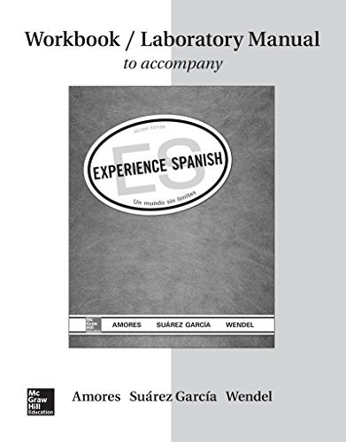 Workbook/Lab Manual for Experience Spanish by Mar?-a Amores (2015-01-30) -