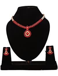 Narayana Pearls Coral & Pearl Necklace Set With Earrings For Women
