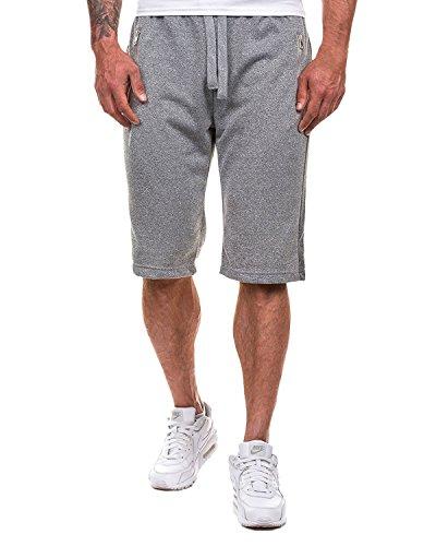 MODCHOK Herren Shorts Kurze Hose Cargo Jogging-Hose Chino Sweat-Shorts Bermudas Sportshorts Kurzhose Hellgrau 3 S