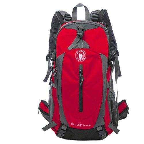 Outdoor Oxford Rucksack 40L Multifunktions Bergsteigen Tasche Red