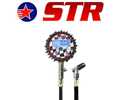 Manometro Digitale da 0 a 200 PSI STR da 6,3 cm con Testa ad Angolo Girevole, Ideale per Sport motoristici