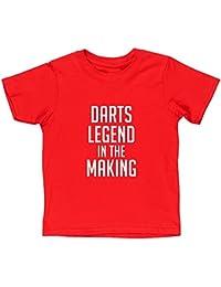 Hippowarehouse Darts Legend in The Making Kids Children's Short Sleeve t-Shirt