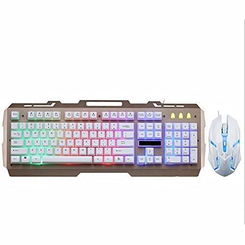 GS Metallplatte Spiel Konkurrenzfähige Tastatur Maus Linie Markiert,A