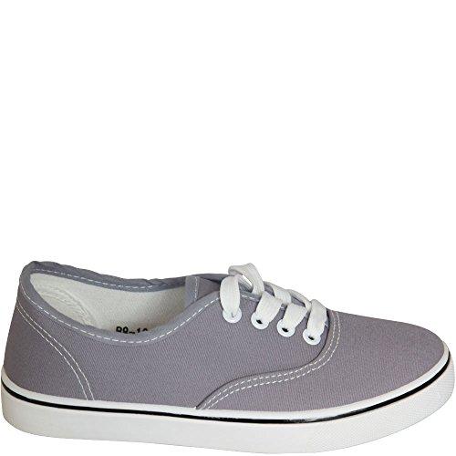 check out 5b506 3cbe2 Trend Kult Stoff Sneaker Damenschuhe Schnürschuhe Textilschuhe 4-Loch  Schnürung NEU V1595