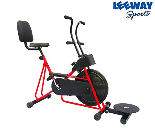 Exercise Cycle with Back Support with Twister by Leeway| Fix Handle Gym bike For Home Use| Deluxe Design of Fitness| Lifeline for Cardio Work Out| Weight Loss Cross fit Equipment| Stamina 201 -(RED)  available at amazon for Rs.4999