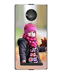 PrintVisa Designer Back Case Cover for YU Yuphoria :: YU Yuphoria YU5010 (Kid Beautiful Happy Young Smile Fair Childhood Outside Pretty Daughter)