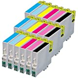 Compatible Cyan / Light Cyan / Yellow / Magenta / Light Magenta / Black Multipack - 18 Printer Ink Cartridges for Epson Stylus Photo PX730WD