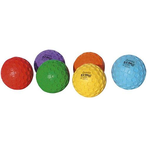 E-Z Bälle 6er-Set von Spordas / kleine aufpumbare Bälle in 6 Farben / Durchmesser: ca. 10 cm / Einzelgewicht: ca. 80g