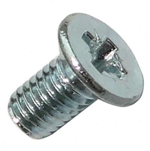 Preisvergleich Produktbild Aerzetix: 100 Schrauben Schrauben mit konischem Kopf M3x6mm DIN965A Stahl verzinkt Abdruck PZ1 kreuzförmig Pozidriv C17507