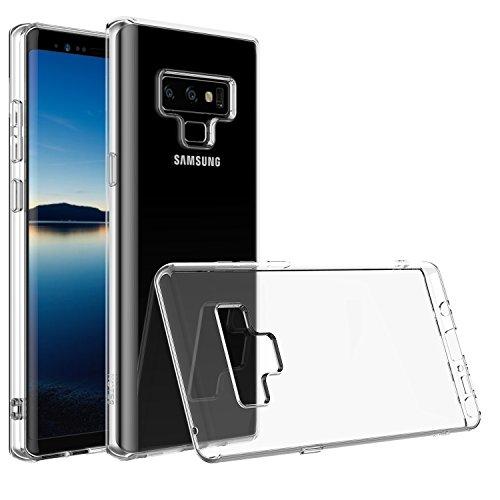 Für Galaxy Note Case, Shamo 's Crystal Clear Case [Shock Absorption] Cover TPU Gummi Gel [Anti Scratch] transparent klar Rückseite Case, weiches Silikon, TPU Samsung Note Modell 2018(klar) -