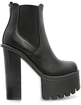 Alx Trend scarpe da donna Stivaletti con tacco alto e molla Gwen - Nero