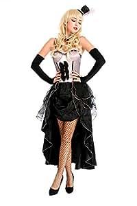 Sexy Kostüm BURLESQUE BEAUTY ROSA, Größe:XS/S