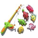 Masterein 7pcs / Set Kinder Magnetic Fishing Eltern-Kind-Interactive Spielzeug Outdoor Indoor Fun Game Fish Toy