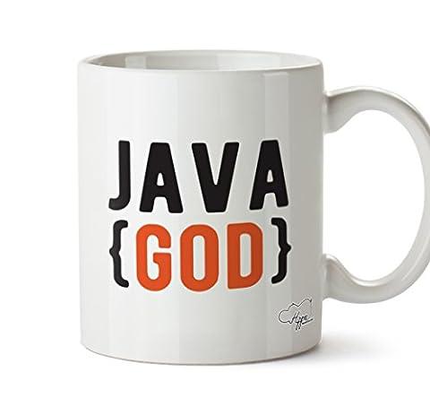 hippowarehouse Java Gott 283,5Tasse, keramik, weiß, One Size (10oz)
