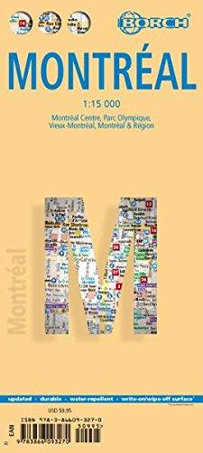 Montréal 1 : 15 000. City Streets: Montréal Centre, Parc Olympique, Vieux Montréal, Montréal & Region por Borch Map