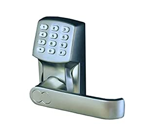 Electronic Keyless Door Lock Set - Satin Nickel (For Right-Hinged Doors Only)