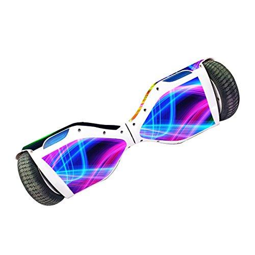 Elektro-Skateboards Elektro Scooter Self Balancing Scooter Aufkleber Elektroroller Roller Self Balance Board Haut – Selbststabilisierendes Fahrzeug E-Board Schutzfolie Sticker Aufkleber – Light Waves von GameXcel ® - 3