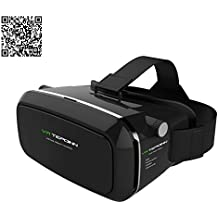 Tepoinn 3D VR gafas Auriculares VR 3D Realidad virtual Caja con Ajustable Lente y Correa for iPhone 5 5s 6 plus Samsung S3 Edge Note 4, 3.5-6.0 inch Universal 3D VR Realidad Virtual Gafas de video 3D Películas [Mejorada Versión]