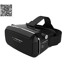 Tepoinn 3D VR Réalité Virtuelle Lunettes casque avec arceau monté sur la tête pour 4.0-5.7 pouces Google, iPhone, Samsung, LG Nexus Remarque, HTC, Moto Smartphones [Version améliorée]