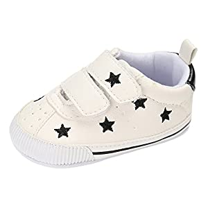 Matt Keely Baby Boys Girls Soft Sole Sneakers Infant PU Leather Shoes Prewalkers