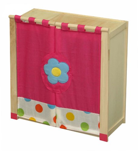 Roba 97330 Dolls wardrobe with shelf and hanging rail Points