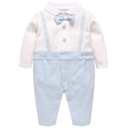 Famuka Baby Jungen Anzug Baby Smoking Neugeborenen Strampler (B, 59cm)
