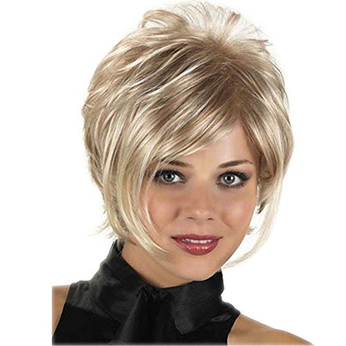 Royalfirst Pelucas cortas mujeres blancas - pelucas