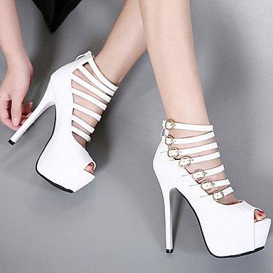 LvYuan Da donna-Sandali-Formale-Altro-A stiletto-PU (Poliuretano)-Nero Bianco Black