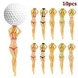 10 Stücke Bikini Golf tees, Bikini Sexy Lady Golf Tees, Kreative Kunststoff Lady Tees Spaß Nackte Mädchen Multicolor Golf Studs Ball Stud