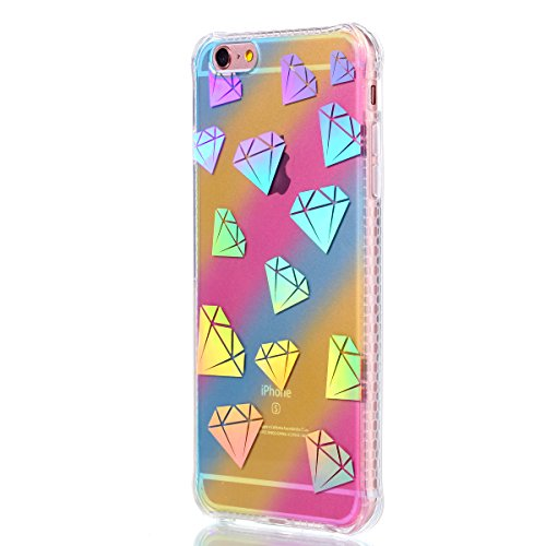iPhone 6 Plus Hülle, iPhone 6S Plus Handyhülle,iPhone 6 6S Plus TPU Silikon Backcover Case Handy Schutzhülle ,Cozy Hut iPhone 6 Plus iPhone 6S Plus Premium Transparent Soft TPU Silicone Hülle Bumper I Diamant