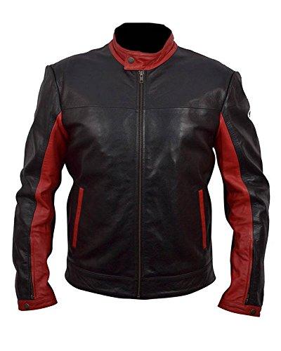Classyak Batman n, da uomo, colore: nero, in vera pelle, colore: marrone scuro Faux Black
