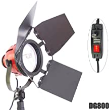 Foco de Luz Lámpara Continua DynaSun DJ800 800W Bombilla Cuarzo para Estudio Fotografico Video