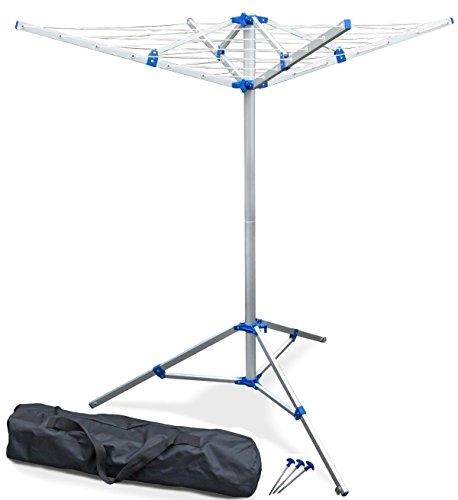 Stativ-Wäschespinne 2-teilig, frei stehend, fixierbar, Stativ flexibel einsetzbar, 16 m Leine, nur 2 kg