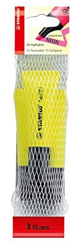 stabilo-neon-filet-de-3-surligneurs-jaune