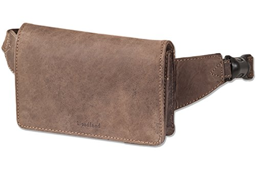 woodland-luxe-compact-bauchtasche-extremement-plat-buff-traitee-amende-brun-fonce-taupe